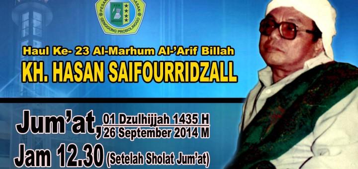 haul ke-23 Alm. KH. Hasan Saifourridzall